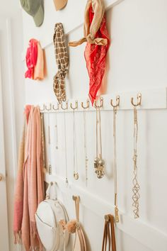 Jewelry and accessory wall