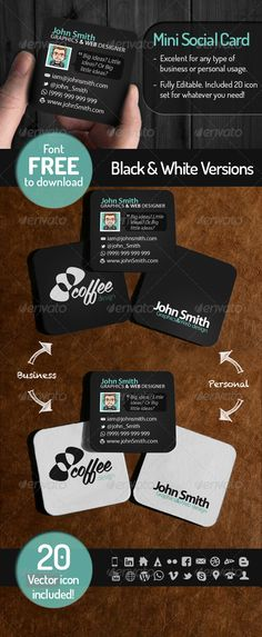 Black Diamond Business Card Business Cards Business And Vector - Mini business cards template