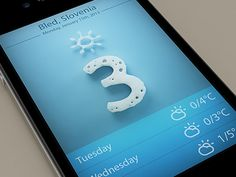 Nice weather winter iOS app design found on Dribbble.