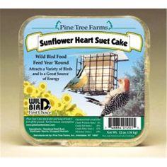Pine Tree Farms Sunflower Hearts Suet Cake 12 Ounce - 01201 - For Your Pet Wild Bird Food, Wild Birds, Suet Cake Recipe, Beef Kidney, Bird Suet, Suet Cakes, Best Bird Feeders, Sunflower Hearts, Backyard Birds
