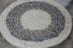 Schöne Flickenteppich häkeln Baumwolle von HiveandHoneyApiary