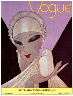 April 1, 1927 Vogue magazine cover, illustration by Eduardo Benito | More on the myLusciousLife blog: www.mylusciouslife.com