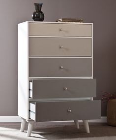 Another great find on #zulily! Gray Scale Color Block Five-Drawer Dresser #zulilyfinds