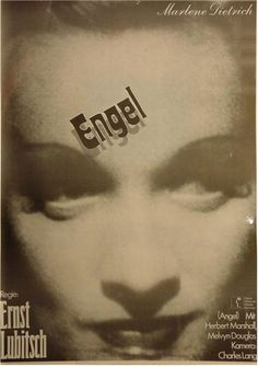 Angel German poster. Marlene Dietrich. Art by Hans Hillmann