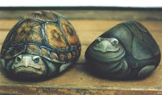 painting rocks rabbits | painted turtle rocks robin r kent i walked around with a paint brush ...