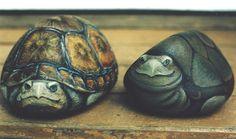 Turtle Painted Rocks, Painted Rock Animals, Painted Rocks Kids, Painted Stones, Painted Turtles, Turtle Painting, Pebble Painting, Pebble Art, Stone Painting