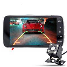 """HOT 4.0"""" IPS Dual lens Car DVR Camera Video Registrator Recorder Auto Dash Camera Dashcam G Sensor+Night Version 170 Wide Angle"""
