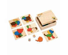 Products with videos : obido educational resources, top school Wooden Box With Lid, Wooden Boxes, Math Strategies Posters, Color Puzzle, College School Supplies, Diy Notebook, Montessori Materials, Wooden Puzzles, Puzzle Pieces