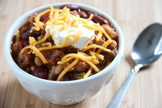 Slow Cooker Two Bean Spicy Chili