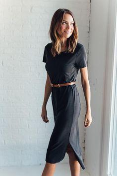 DETAILS: Short sleeve dress with pocket Made of super soft Sandwash Modal Fabric Content: 64% Modal, 36% Polyester Slim fit...