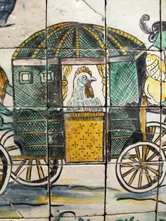 Azulejos Portugal. By the same tile artist who painted the wonderful tiles in Fronteira Palace, Benfica.