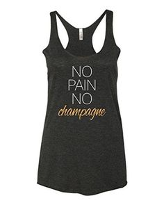 8814b19789ff9 Panoware Womens Workout Racerback Tank No Pain No Champagne Vintage Black  Medium   Read more reviews