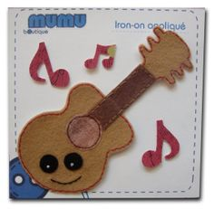 Guitar iron-on appliqué by mumu boutique on Etsy, $5.50