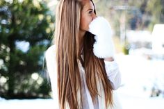 Long beautiful hair.