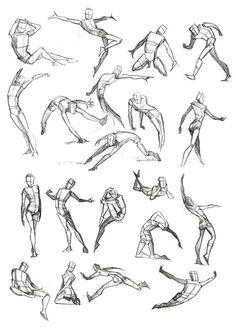 Image result for jump sketch pose