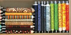 Fabric Organizers - Fabric, Organizing, Fabric, Quilt Shop Sewing Room Storage, Sewing Room Organization, Sewing Rooms, Fabric Storage, Craft Storage, Organizing Ideas, Storage Ideas, Buy Fabric, Fabric Art