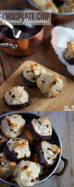 Paleo Passover Chocolate Chip Coconut Macaroons {Grain-free, gluten-free, low-carb} | Lexi's Clean Kitchen