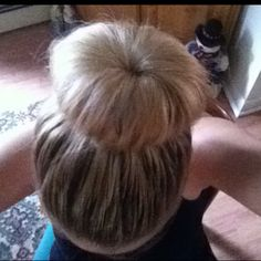 Sock bun!!! I love it and It's really comfy and easy to do!!