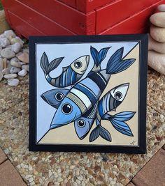"""Tableau de mer """"La danse des poissons"""""""