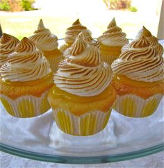 Lemon Meringue cupcakes with homemade lemon curd... this sounds like quite a few steps but really good.
