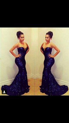 Blue mermaid dress...
