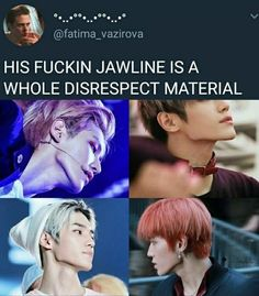 Lee Taeyong the definition of jawline Nct Taeyong, Funny Kpop Memes, Bts Memes, Jaehyun, Nct 127, Extended Play, Nct Life, Haha, Entertainment