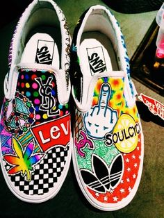 Customized Vans by linmindesigns on Etsy