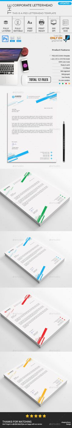 Corporate Creative Letterhead template vol-04 - Stationery Print - free business letterhead templates download