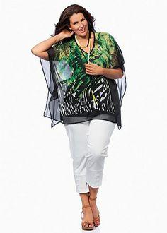 Plus Size Tops - Plus Size Evening Tops | Plus Sized Womens Tops - MALDIVES BLOUSE - Virtu