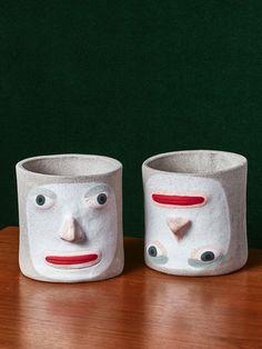 "Ceramic Pots ""Adam and Rory"""