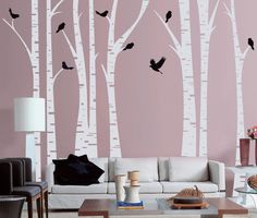 wall decal giveaway CHERRY BLOSSOM TREE WALL DECAL – TREE WITH BIRDS – EVGIE