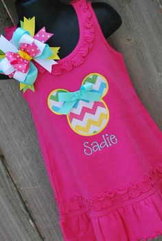 Hey, I found this really awesome Etsy listing at http://www.etsy.com/listing/154989828/personalized-chevron-minnie-mouse-dress