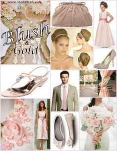 Soft Romantic Ideas for adding Shades of Pink to your wedding day color scheme. www.ModelBride.com