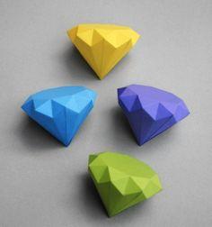 easy diy oragami | diamond origami DIY | Art Origami | Diagrams Origami | Origami ...