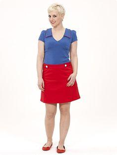 Tangerine Skirt, red
