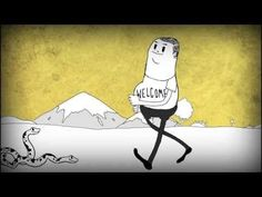 Animation created in Flash and After Effects looking at man's relationship with the natural world. By Steve Cutts titled 'Man' Supports! Film Anime, A Cartoon, Animation Film, Stop Motion, Illustrations, Social Issues, Motion Design, Mother Earth, Short Film