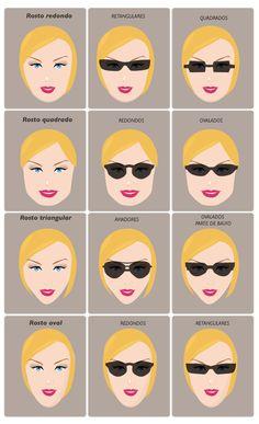 f54e76cb7 rosto oculos sol Formas De Rosto, Tipos De Rosto, Oculos De Sol Redondo,