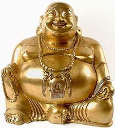 Feng Shui: Rub the Laughing Buddha's great belly, it brings forth wealth, good luck, and prosperity.