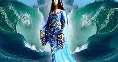 No fundo do mar ye ye . Yemaya Orisha, Aquarius Birthday, Mermaid Stories, Ex Amor, Gods And Goddesses, Mythical Creatures, Tattoo Drawings, Mystic, Inspiration
