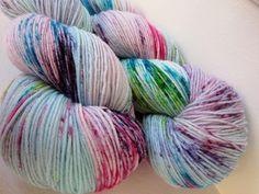 Sock Yarn Superwash Merino / Nylon Hand dyed - Mrs. Featherbottom. $23.00, via Etsy.