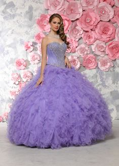 Custom quinceanera dresses in bright colors! These quince dresses can be made in any color. Lots of vestidos de quinceanera to choose from. Sweet 16 Dresses, 15 Dresses, Ball Dresses, Cute Dresses, Fashion Dresses, Girls Dresses, Wedding Dresses, Purple Quinceanera Dresses, Quinceanera Ideas