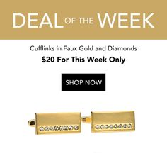 Faux Gold and Diamond Cufflinks - Amp up your overall aesthetic with these luxe cufflinks in faux gold with a singular row of pave diamonds. The sleek rectangular shape of the cufflinks make them easy Budgeting, Cufflinks, Self, Menswear, Diamond, Shopping, Budget Organization, Diamonds, Men Wear