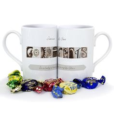 Personalised Affection Art Godparents Mug Set  from Personalised Gifts Shop - ONLY £14.95