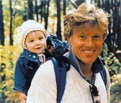 Grandpa Robert Redford :) love this picture