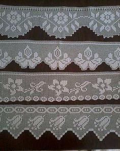 Crochet Kitty - Gorra dos agujas Punto Ingles para Adulto Hombre o Mujer Sie es für Sie Schal Filet Crochet, Crochet Lace Edging, Crochet Motifs, Crochet Borders, Cute Crochet, Hand Crochet, Crochet Stitches, Crochet Patterns, Cross Stitch Books