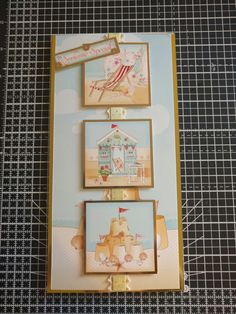 """Hunkydory Crafts Sun, Sea and Sandcastles collection. Tall seaside card, """"to someone special"""""""