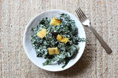 Recipe File: Kale Caesar Salad With Grilled Portabello + Polenta Croutons (via Bloglovin.com )
