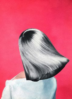 Mixed media work by Belgian collage artist Madame Corrine Is a Fine Lady – a.k.a. Nataša Gondry Denić