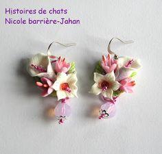 Bijoux Histoires de chats et Enji B: Orchidées et arums ... une commande spéciale !