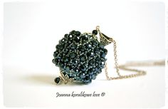 Beaded Beads Capricho Pendant Kula kryształki Hematite